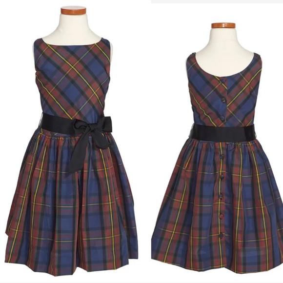 Ralph Lauren Girls Tartan Fit & Flare Dress